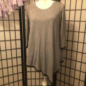 Chelsea & Theodore S Grey asymmetrical sweater